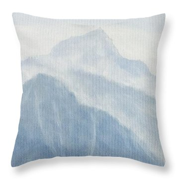 Throw Pillow featuring the painting 36.5616n 118.2251w by Kevin Daly