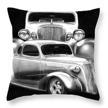 37 Double C Throw Pillow by Peter Piatt