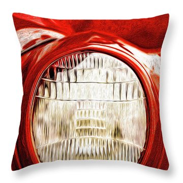 Throw Pillow featuring the mixed media 37 Ford Oil Photo by Onyonet  Photo Studios