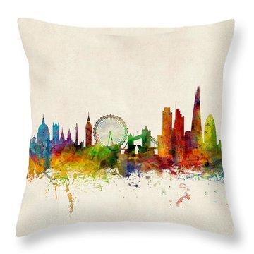 London Skyline Throw Pillows