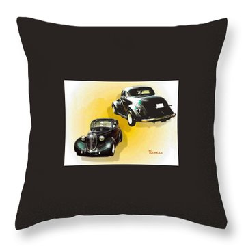 '38 Plymouth Throw Pillow