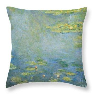 Waterlilies Throw Pillow