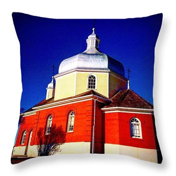 The Red Church Throw Pillow