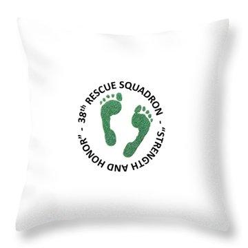 38th Rescue Squadron Throw Pillow