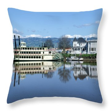 3b6380 Petaluma Queen Riverboat Throw Pillow