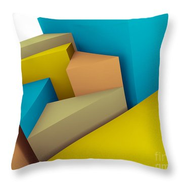 3d Abstraction  Throw Pillow