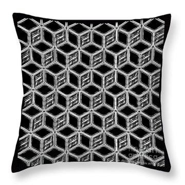 3d Blackstep Throw Pillow