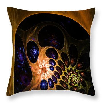 3d Chaotica Throw Pillow