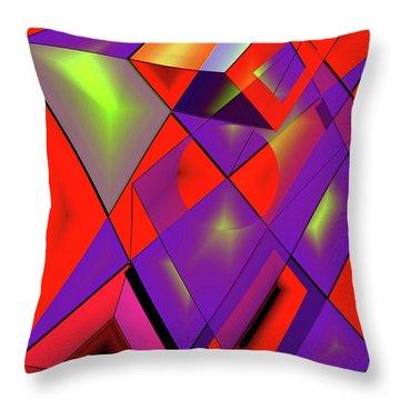 3d-cubes Throw Pillow by Helmut Rottler