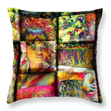 3d Cubist Throw Pillow