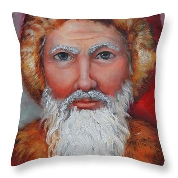3d Santa Throw Pillow