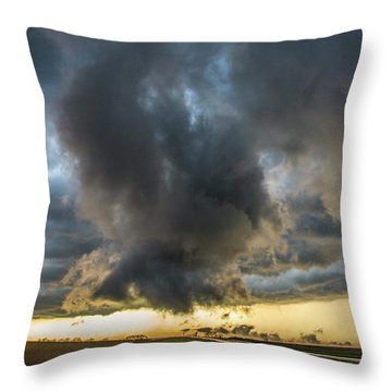 3rd Storm Chase Of 2018 050 Throw Pillow