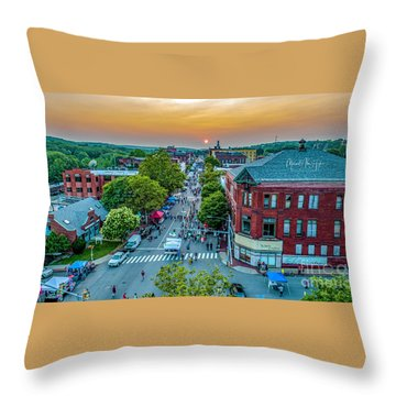 Throw Pillow featuring the photograph 3rd Thursday Sunset by Michael Hughes