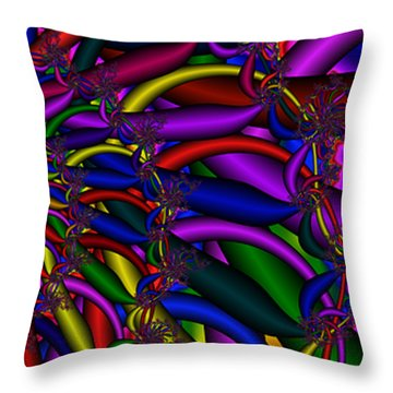 3x1 Abstract 911 Throw Pillow