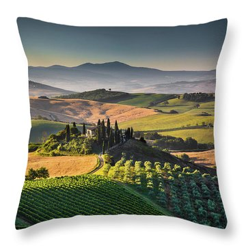 A Morning In Tuscany Throw Pillow