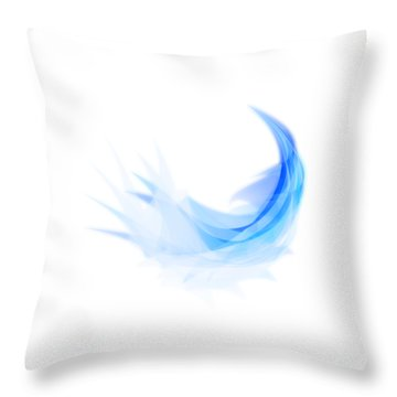 Throw Pillow featuring the painting Abstract Feather by Setsiri Silapasuwanchai