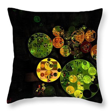 Throw Pillow featuring the digital art Abstract Painting - Black by Vitaliy Gladkiy
