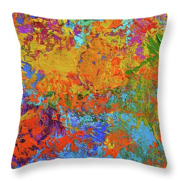 Abstract Painting Modern Art Contemporary Design Throw Pillow