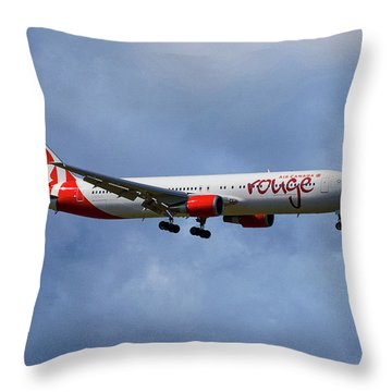 Air Canada Rouge Boeing 767-35h Throw Pillow