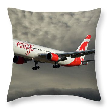 Air Canada Rouge Boeing 767-333 116 Throw Pillow