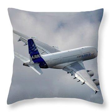 A380 Throw Pillows