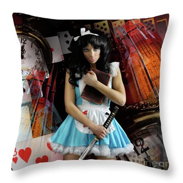 Alice In Wonderland Throw Pillow by Oleksiy Maksymenko