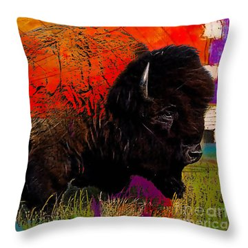 American Buffalo Collection Throw Pillow
