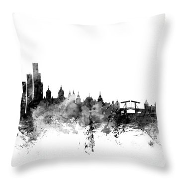Amsterdam The Netherlands Skyline Throw Pillow