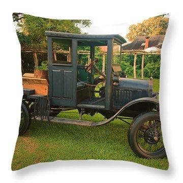 Antique Car Throw Pillow