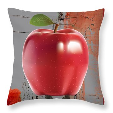 Apple Collection Throw Pillow