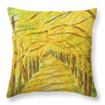Autumn Landscape, Painting Throw Pillow