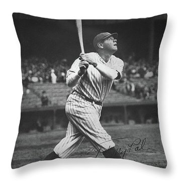 Babe Ruth  Throw Pillow by American School