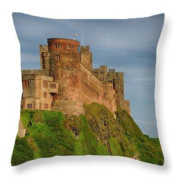 Bamburgh Castle Throw Pillow