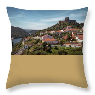 Throw Pillow featuring the photograph Belver Landscape by Carlos Caetano