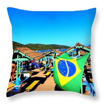 Throw Pillow featuring the photograph Brazil by Beto Machado