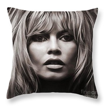 Brigitte Bardot Collection Throw Pillow