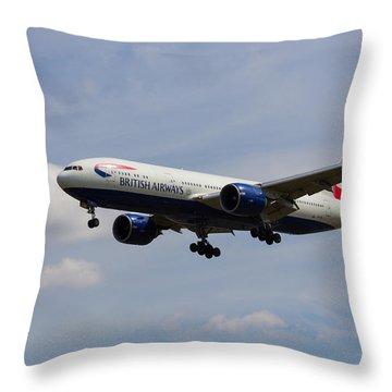 British Airways Boeing 777 Throw Pillow