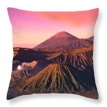 Bromo Tengger Semeru Throw Pillow by Gloria & Richard Maschmeyer - Printscapes