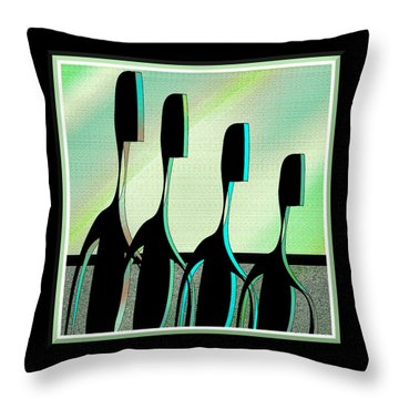 Brothers Throw Pillow by Iris Gelbart