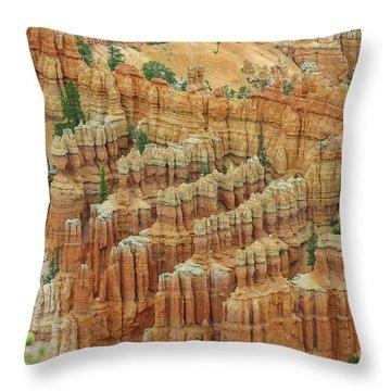 Bryce National Park, Utah Throw Pillow by Patricia Hofmeester
