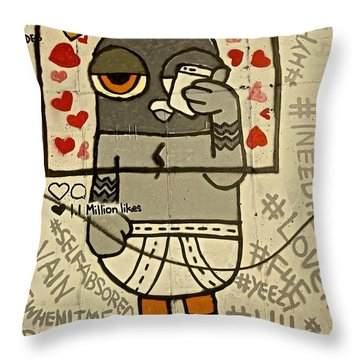 Bushwick Brooklyn Graffitti Throw Pillow