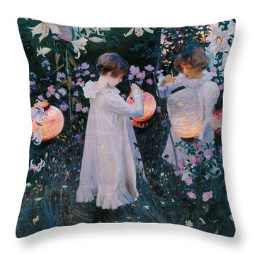 Carnation Lily Lily Rose Throw Pillow