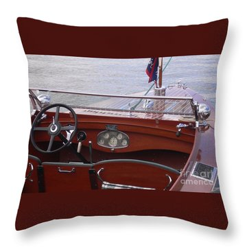 Chris Craft Runabout Throw Pillow
