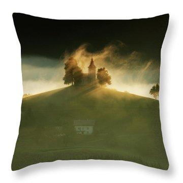 Church Of Saint Thomas At Sunrise Throw Pillow