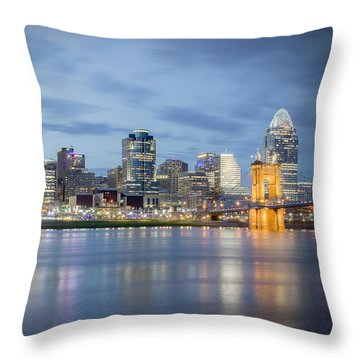 Cincinnati, Ohio Throw Pillow
