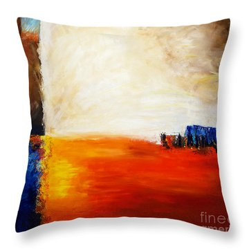 4 Corners Landscape Throw Pillow