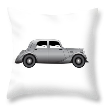 Throw Pillow featuring the digital art Coupe - Vintage Model Of Car by Michal Boubin