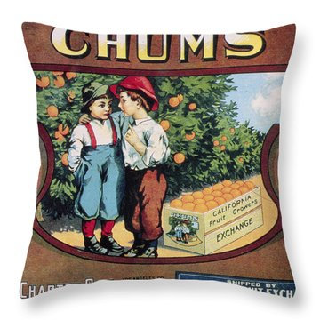 Crate Label, 20th Century Throw Pillow by Granger