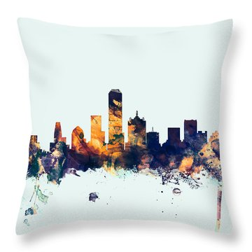 Dallas Skyline Throw Pillows