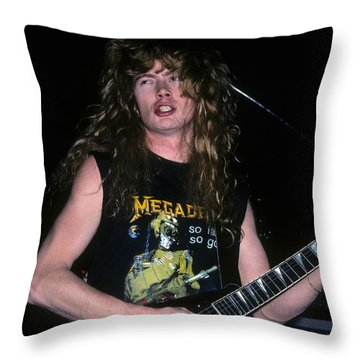 Dave Mustaine Of Megadeth Throw Pillow